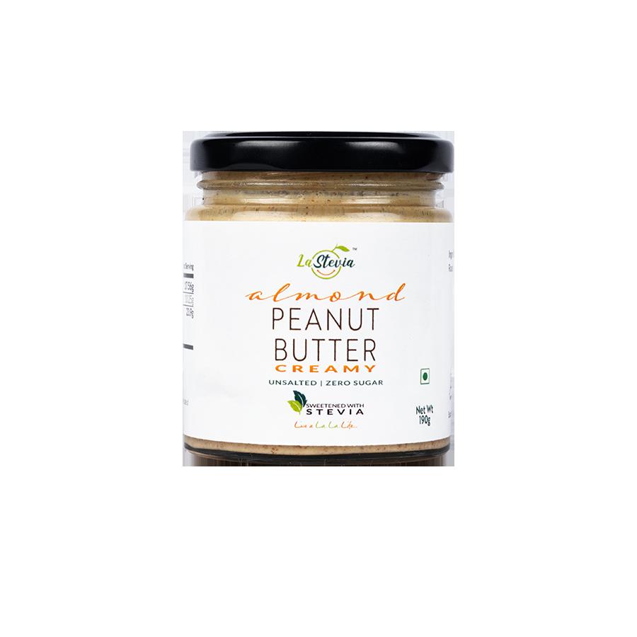 Stevia-Sweetened Almond Peanut Butter Creamy