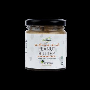 Stevia-Sweetened Almond Peanut Butter Crunchy